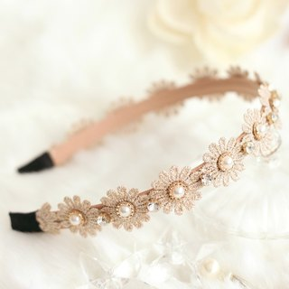 Romantic Lace Flower With Pearl Headband