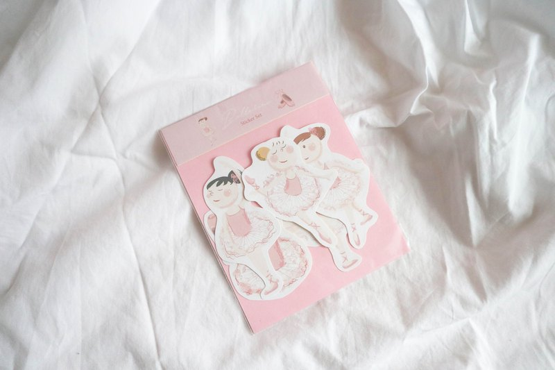 Ballerina Girls Stickers / 6 pieces