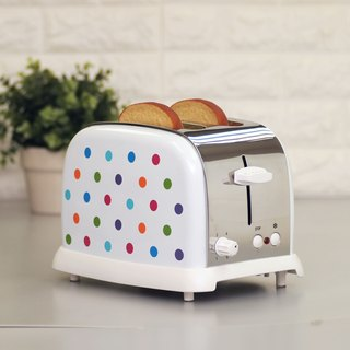 2 Slice 800W Stainless Steel Bread Oven Toaster - Color Spots