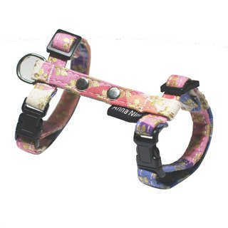 [AnnaNina] pet chest back cat rabbit fit type chest strap cherry blossom three primary color fast buckle leash