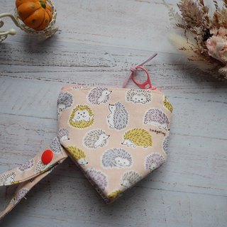 Pink Hedgehog Stereo Triangle Pacifier Bag