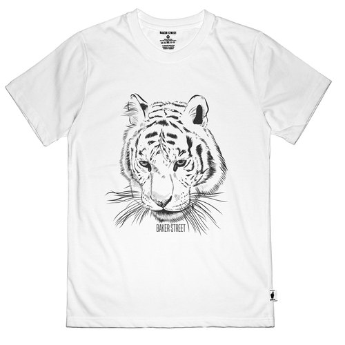 British Fashion Brand [Baker Street] Tiger Printed T-shirt