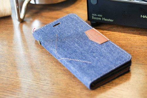 iPhone 7 / iPhone 8 denim series with cover phone case dark blue