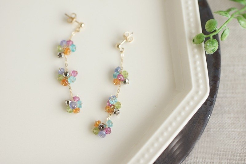 14kgf-Bouquet ピアス