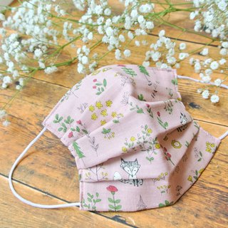 Comfortable cute handmade mask Fox of the forest Pink | Exchanging gifts |