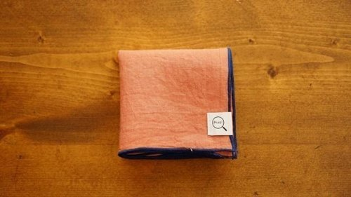[Stock Last one point - plant dyeing organic linen handkerchief Niiro (color)