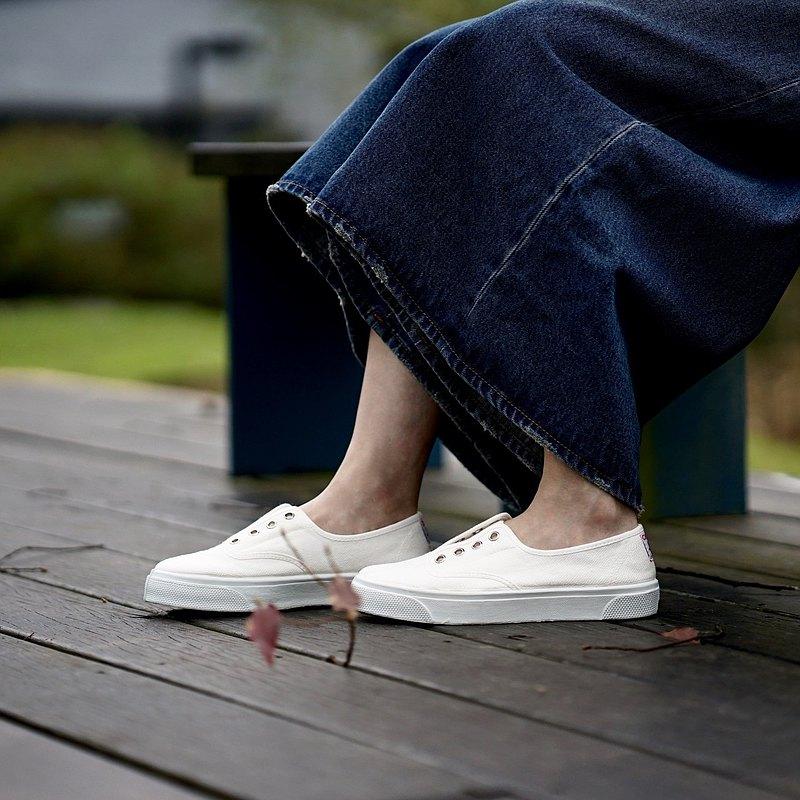 西班牙國民帆布鞋 CIENTA 10997 05 白色 經典布料 大人