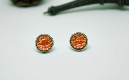 Time Gem <Red Light> - Alloy Needle Earrings - Limited X1 -