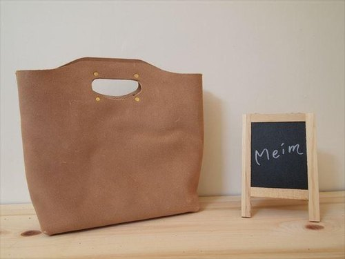 [MTO] floor leather B5 [natural] Handy bag [M]