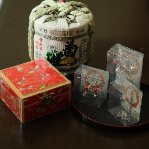 Goody Bag - Lucky Box Set - Red Dragon with 3 boxes of crane accessories (Random Pattern)