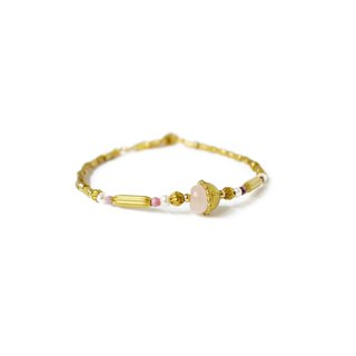 Ficelle | Handmade Brass Natural Stone Bracelet | [Powder Crystal] Injured Soul