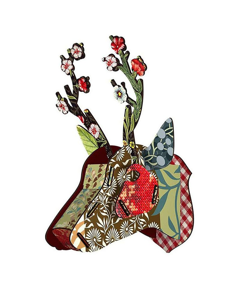 SUSS-Italian MIHO wooden deer head high quality home decoration / wall decoration - medium size (Capri-2)