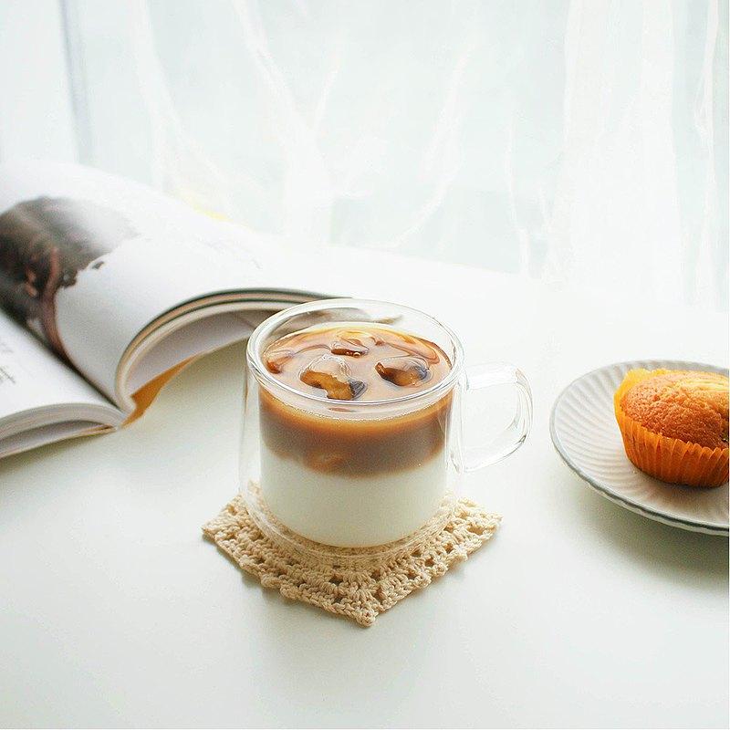 CO雙層把手玻璃杯-300ml