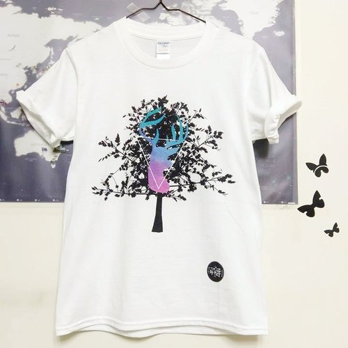 Deer and tree t-shirt