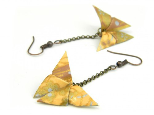 Earrings origami