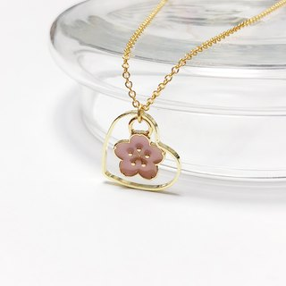 In love with sakura (limited edition) with mixed metal plated necklace