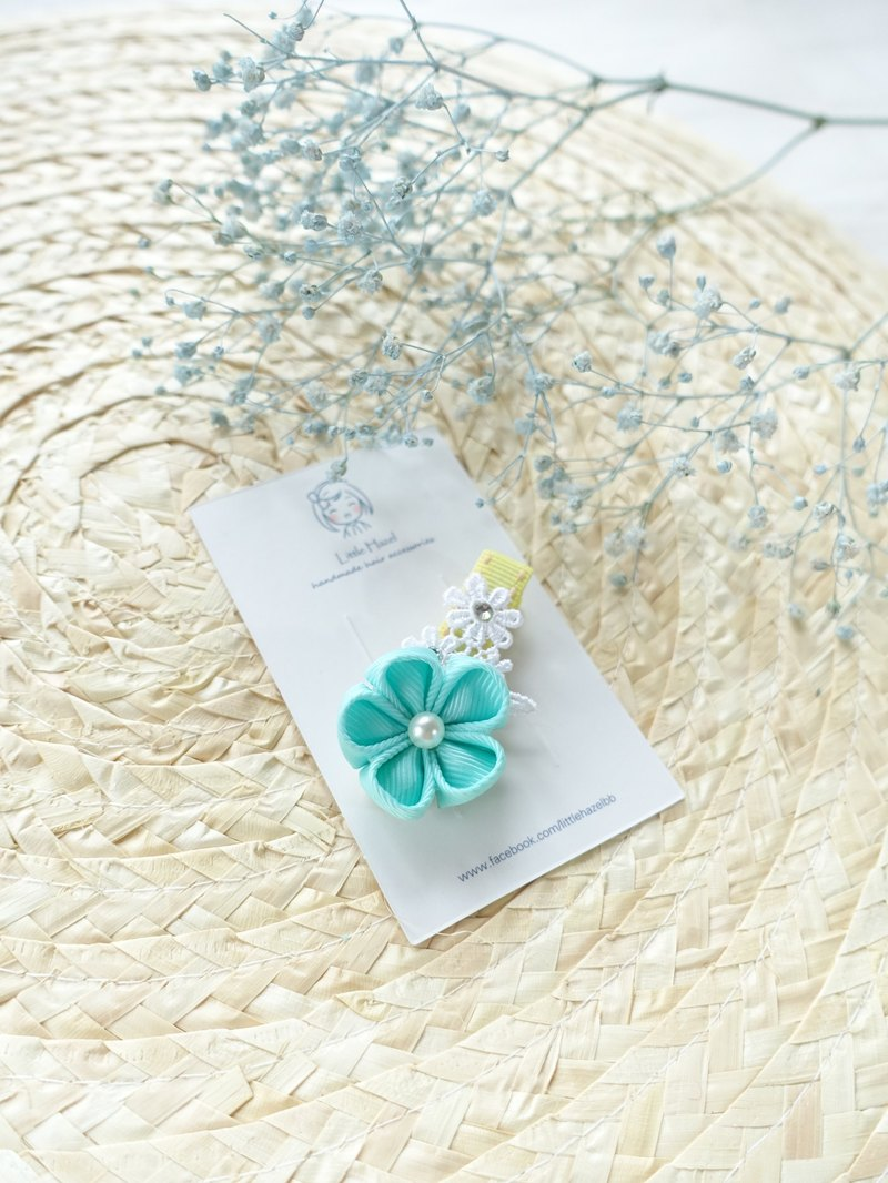 Children headdress. And the wind flower hairpin / Liuhai folder hair ornaments (mint color)