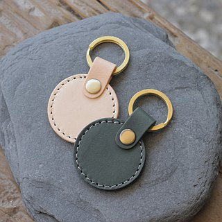 [New listing] leather key ring | round four color | can purchase laser lettering