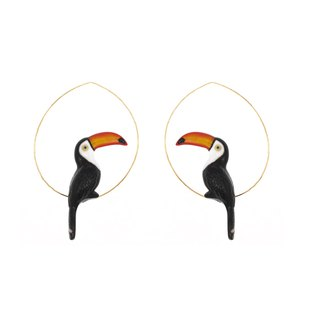 Toucan Hoops Earrings 大嘴鳥耳環
