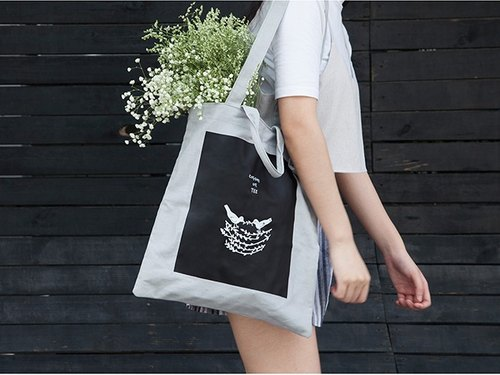 YIZISTORE canvas printing shopping bag handbag shoulder bag - Bird's Nest