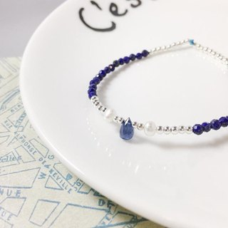 MH sterling silver natural stone custom series _ underwater adventure _ lapis lazuli