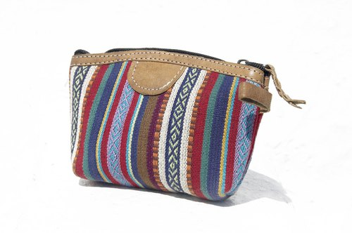 Birthday gift Valentine's Day gift limited edition a Boho patchwork storage bag / ethnic wind bag / camera bag / leather cosmetic bag / cell phone bag / travel clutch - Moroccan color ethnic style cosmetic bag