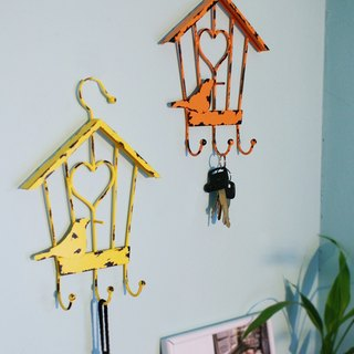 【4U4U】 Home Accessories Wall Hanging - Love - (Bird House) Iron Wall Hanger-Engaged-