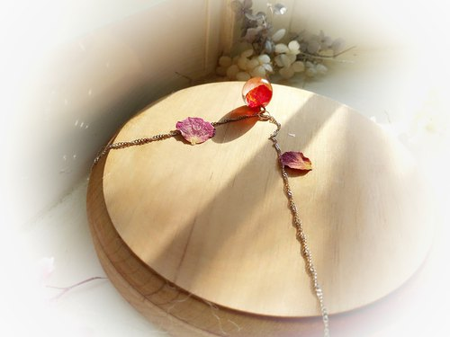 Desert Rose Crystal Ball Clavicle Necklace Birthday Gift Free Packaging