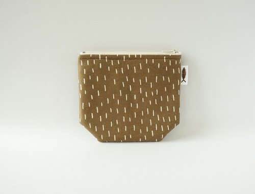 / Patter - light brown / / corner purse / card storage bag / make-up small bag / portable small package