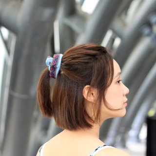 【The MAMA's Closet】Rubik's Cube / Denim with Ribbon Scrunches