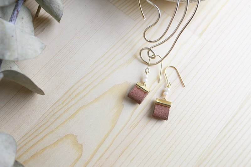 New autumn / winter with beaded earrings Be myself // chestnut plum ve056