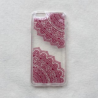 Hand Painted Phone Case iPhone 7 Henna Clear Case Mandala Samsung Galaxy Note LG Sony Xperia Case Art Hand Drawn