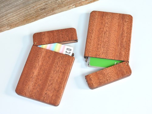Wooden IC card case(Mahogany)