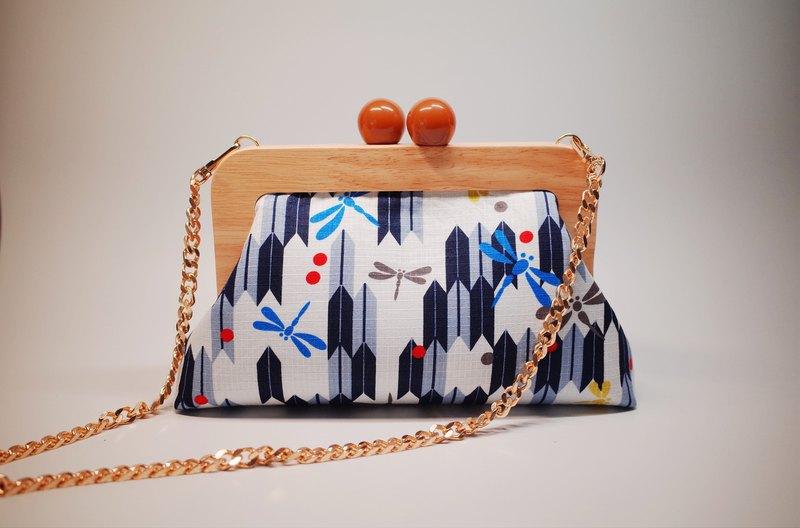 小確幸。 蜻蜓款日式木口金包/側背包/手拿包/禮物