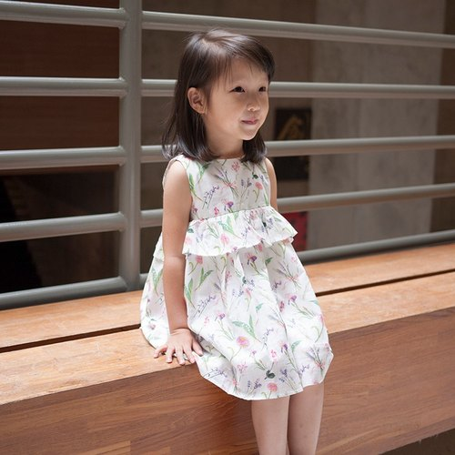 Lotus lotus white sleeveless dress _ child models