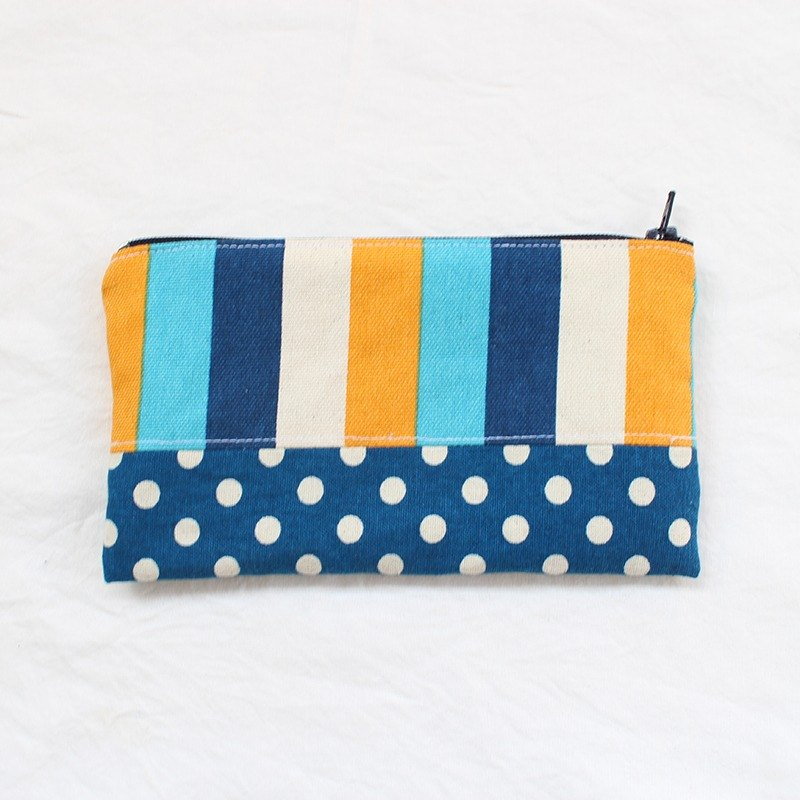 Europe and the United States wind stripe splicing pencil case / pencil case