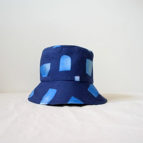 Japanese fabric Indigo Irregular Shape Fisherman's Hat