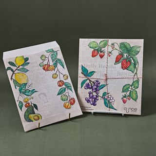 Vintage Fruits Garden Envelope 4 pcs
