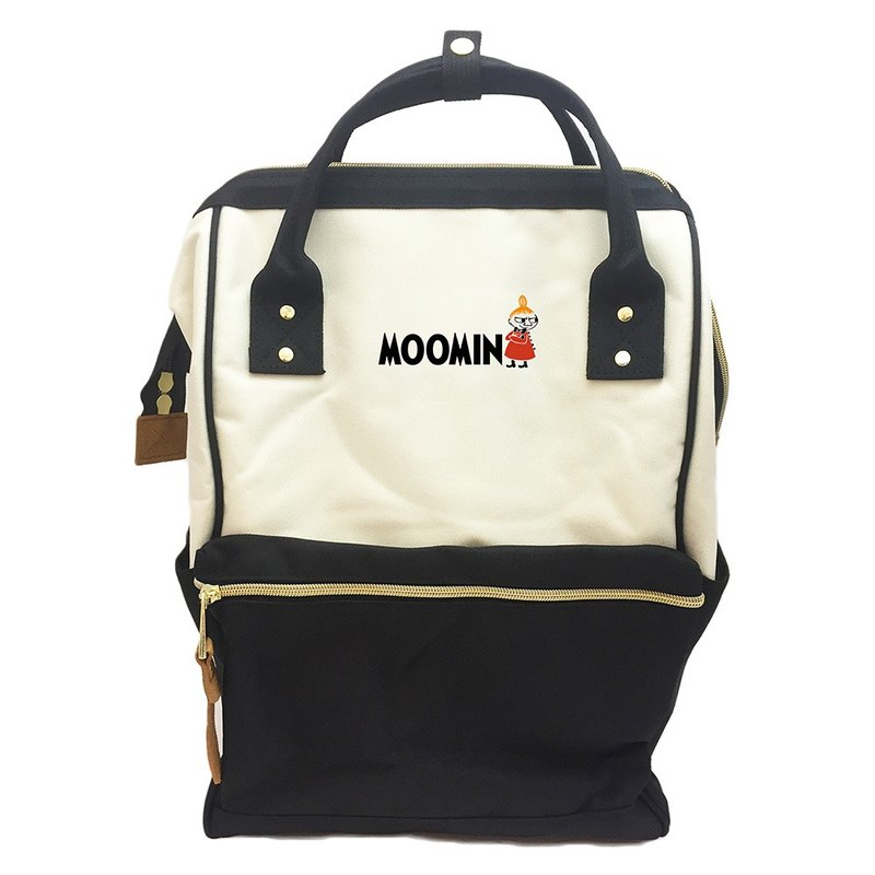 Moomin Moomin authorized - after wide-mouth Backpack (Large) - Black and white models