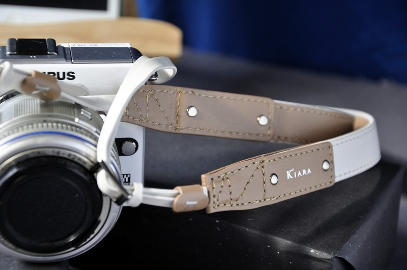Caelus Young Italian leather strap (white)