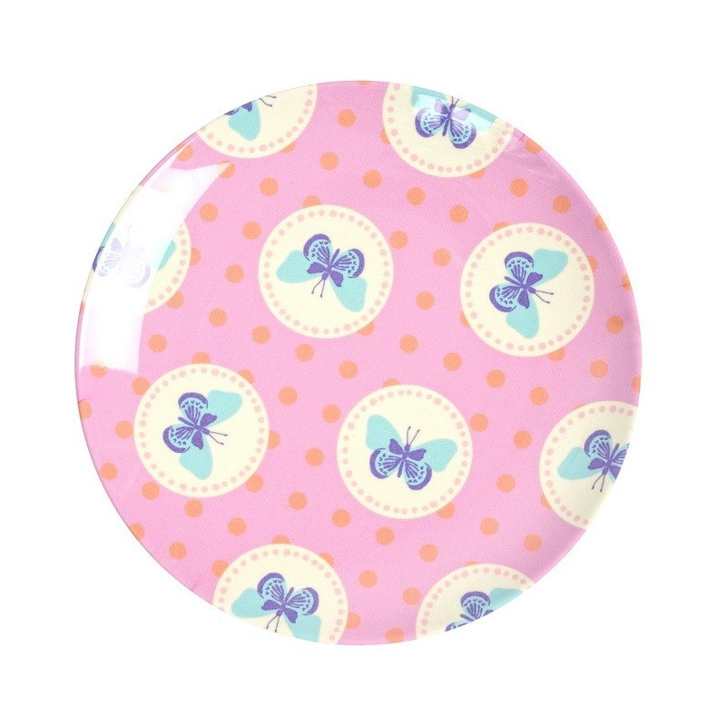 Butterfly 6.5-inch dinner plate - powder