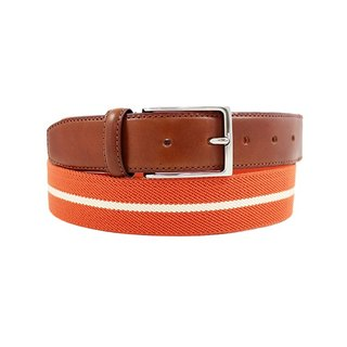 LAPELI │ Belgian elastic fabric belt - colored striped orange