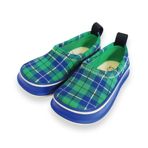 Japan SkippOn children leisure function shoes - wild green checkered