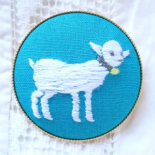 Child goat - Embroidery Brooch Kit