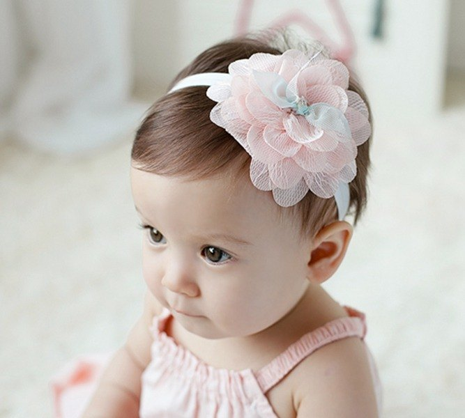 Happy Prince iris flowers baby girl hair band (powder) made in Korea