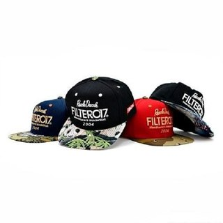 Filter017 RD Fabric Snapback Cap / Dazzle Series Baseball Cap