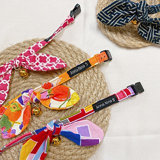 [AnnaNina] pet cat collar love cherry red Kelly towel S~M