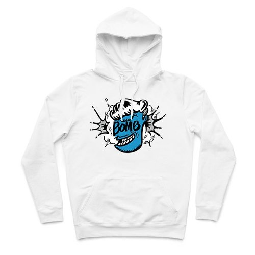 Mr.BOMB - white - T-shirt Hooded
