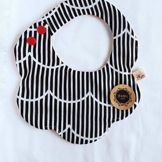Stripe Wave - Cotton Six Layers 100% Cotton Double Sided Bib. Scarves