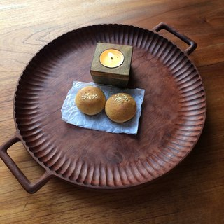 Hand-carved rosewood bina tray